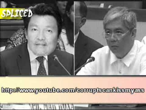 Joc Joc Bolante being Questioned in the Senate by Lito Lapid