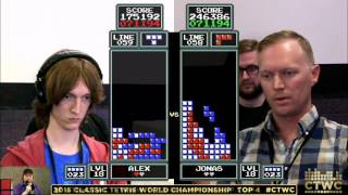 Top 4 - Alex Kerr vs. Jonas Neubauer - Classic Tetris World Championship 2015