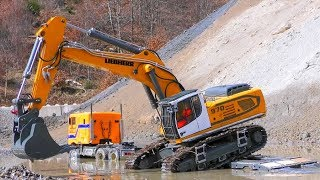 HEAVY RC MODELS ! LIEBHERR DIGGER WORK IN THE GRAVEL! COOL R-C TOYS IN MOTION! BIG TOYS FOR BOYS