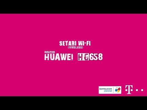 Cum setam wireless-ul (Wi-Fi) pe routerul huawei HG658 de la Telekom/Romtelecom