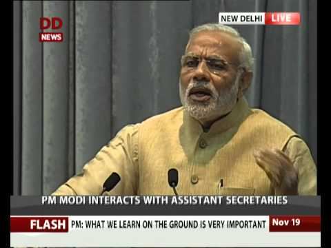 PM addresses IAS officer's of 2013 Batch