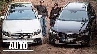 Mercedes vs. Volvo - Welcher Wagen kann beides, Kombi & Gelände? Der Test