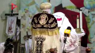 صلاة قداس عيد القيامة المجيد في دير الأنبا سمعان بالمقطم