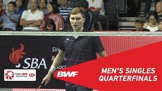 QF | MS | Viktor AXELSEN (DEN) [3] vs Jonatan CHRISTIE (INA) | BWF 2019