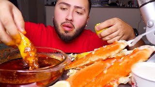 KING CRAB LEGS w/ Bloves Sauce MUKBANG