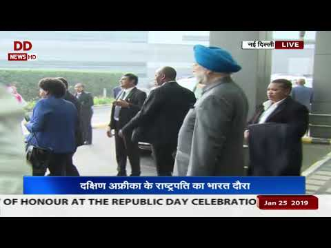 South African President arrives on a 2-day India visit thumbnail