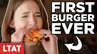 Eating A Burger For The First Time (Taste Test)