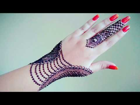 latest mehndi design   style 2018  arabic beautifull design   YouTube
