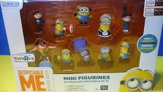MINIONS DESPICABLE ME 10 ALL NEW Unboxing MINI Figurines Playset MINI Detestable moi Minion