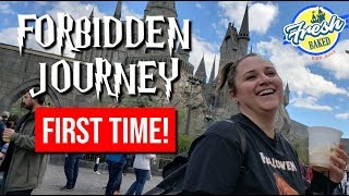 My first time on Forbidden Journey   Harry Potter World   Universal Studios Hollywood Vlog