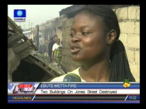 Fire Destroys Two Buildings On Jones Street In Ebute Metta video