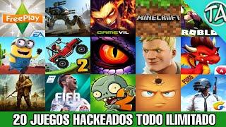 Top 20 JUEGOS HACKEADOS Para Android 2018 | Mejores Juegos Hackeados Apk Mod