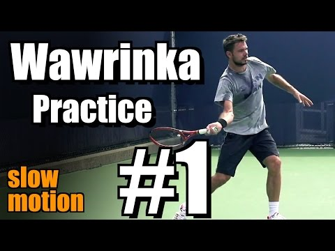 Stanislas Wawrinka in Super Slow Motion | Forehand and Backhand #1 | Western & Southern Open 2014