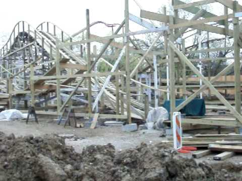 Little Dipper Construction Pt. 2 Six Flags Great America 4-25-10 Video