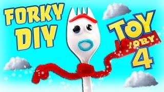 Toy Story 4 Forky DIY! Play-Doh Disney Pixar Crafts