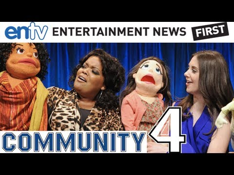 Community Season 4 : Exclusive Interview, Joel McHale, Alison Brie, Gillian Jacobs and Puppets