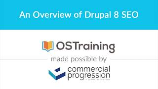 Lesson #14: An Overview of Drupal 8 SEO