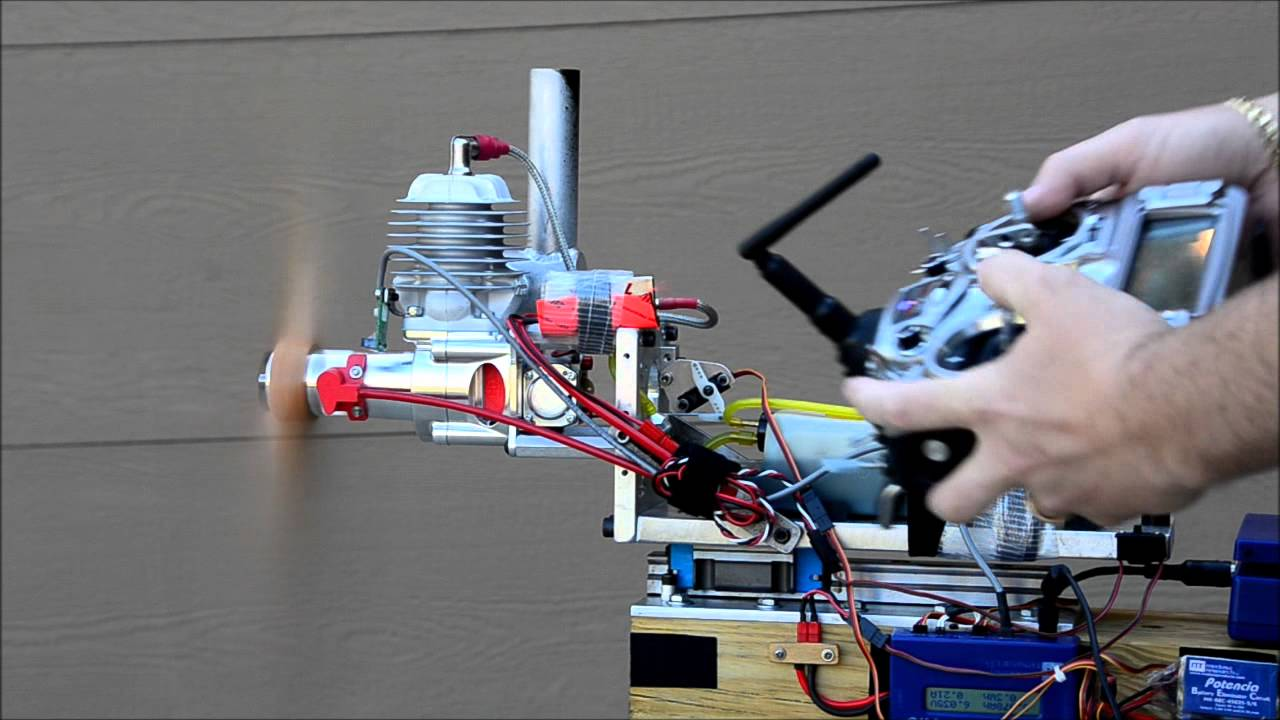 how to build a rc engine test stand