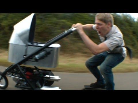 image vidéo La poussette qui roule à 80 Km/h