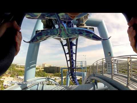 Best Manta Roller Coaster Front Seat POV at SeaWorld Orlando GoPro HD Hero2