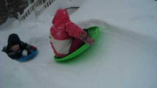 Luge Race in the Blizzard of 2010
