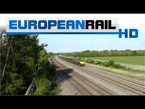 Iarnród Éireann Irish Rail 201 Locomotive 221 + Mark 4 Set passes Stacumny Bridge