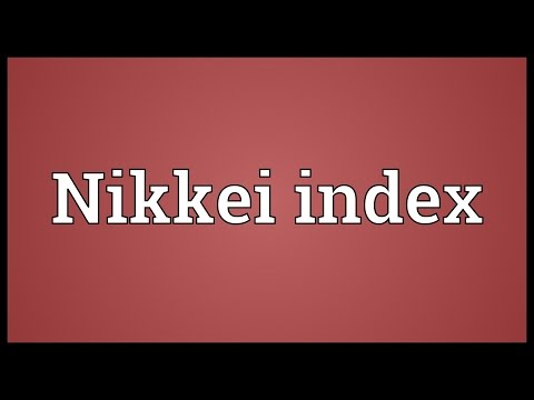 Nikkei index Meaning
