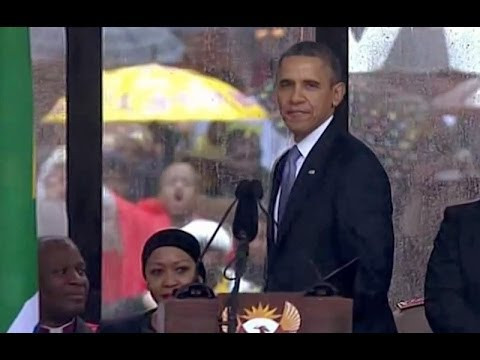 President Obama Speaks at a Memorial Service for Nelson Mandela