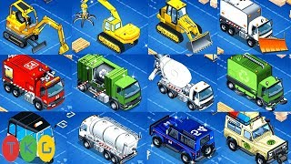 Lắp Ráp Xe Xúc Đất - Ủi Đất, Xe Cứu Hỏa, Xe Trộn Bê Tông & Xe Đỗ Rác | TopKidsGames (TKG) 348