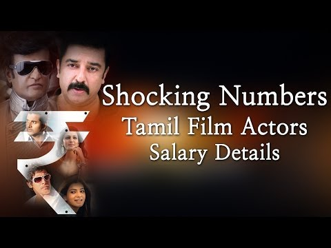 Shocking Numbers-tamil Film Actors  Salary Details -red Pix 24x7 video