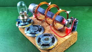 Electricity Free Energy Generator With DC Motor New Technology Idea 2018