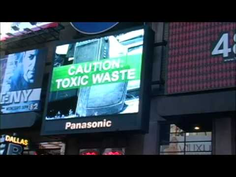Electronics TakeBack Coalition Times Square Ad