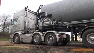 Scania V8 R730 with Straight Pipes loud sound - Scania 8/ Cilinder Lucas uit Vroomshoop