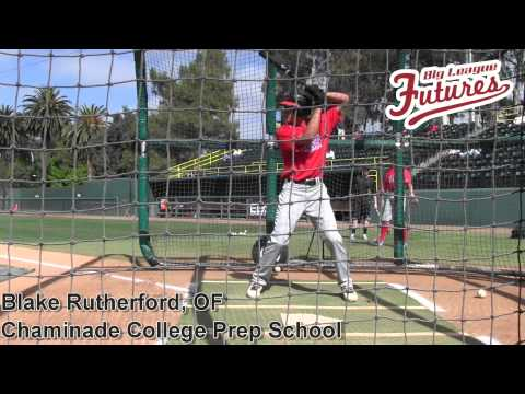 Blake Rutherford, OF, Chaminade College Prep School Class of 2016, Batting Practice at the Elite Bas - 05/02/2014