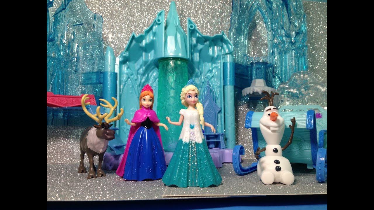 FROZEN Queen Elsa's Ice Lightup Palace Featuring Olaf Disney Frozen Movie Toys Review - YouTube