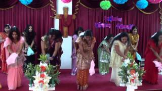 Sri Lankan Christian Tamil Dance 4 (Sri Lankan Christian Fellowship Cyprus)