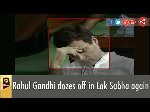 Rahul Gandhi sleeps in Lok Sabha during debate on Gujarat Dalit assault