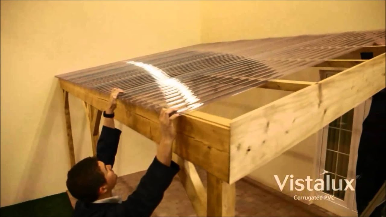 How To Install Vistalux Roofing Sheets Youtube