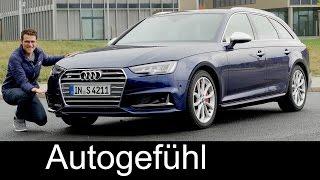 Audi S4 Avant FULL REVIEW test driven V6 354 hp + Autobahn acceleration new neu 2017