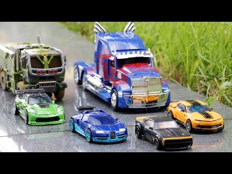 Transformers 4 AOE Autobots Bumblebee Optimus Prime Hound Crosshairs Drift Vehicle Robot Car Toys