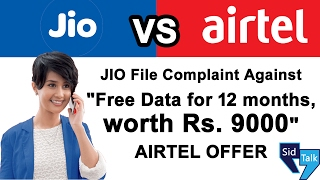 Reliance JIO File Complaint Against AIRTEL FREE 4G Data Offer 2017 | TRAI
