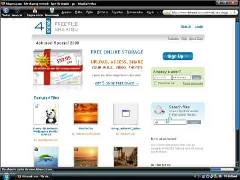 Como baixar jogos para  celular,  o site é ( www.4shared.com )