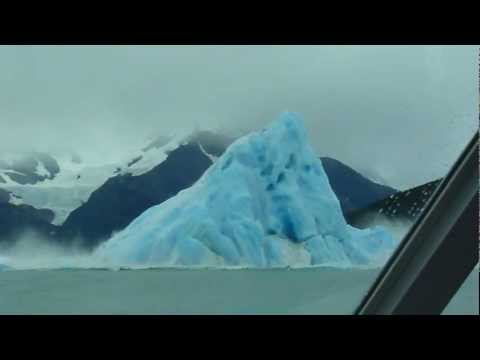 Iceberg flipping over...
