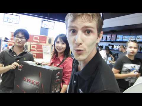 ASUS ARES 5870 X2 4GB Graphics Card Giveaway at Markham Grand Opening Linus Tech Tips