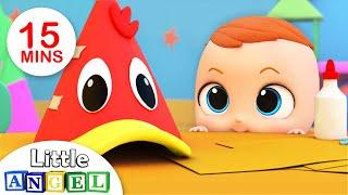 Os Cinco Patinhos na Escola, Bebê Tubarão, Humpty Dumpty | Vídeo Infantil | Little Angel