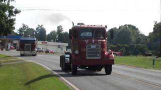 1955 Mack H63, 1985 KW, 1984 KW Leaving The Truck Show