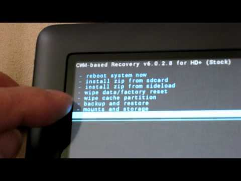 how to revert root nook hd+ to factory setting