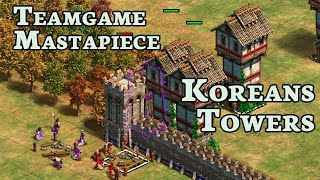 Teamgame Mastapiece | Koreans Feudal, Castle and Imperial Tower Rush! | #3