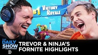 Trevor Helps Ninja Get His First Ever Fortnite Victory on Xbox One | The Daily Show