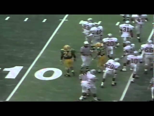 Oregon FB Juan Shedrick takes screen pass for 9 yards vs. WSU 9-07-91
